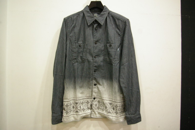 CHALLENGER BLEACH DENIM SHIRT