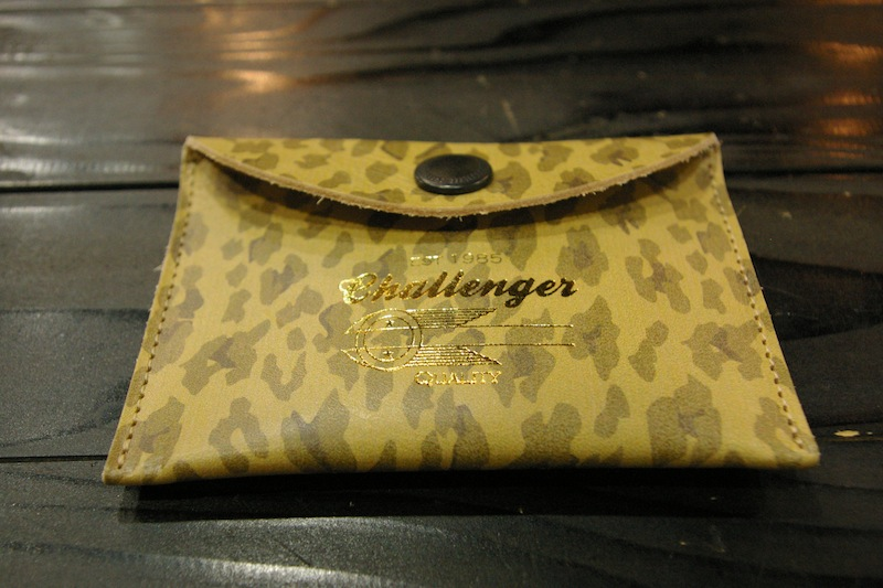 CHALLENGER LEOPARD LEATHER COIN CASE