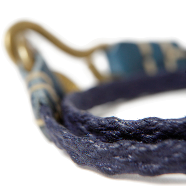 hobo WAXED COTTON CORD BRACELET WITH BRASS HOOK