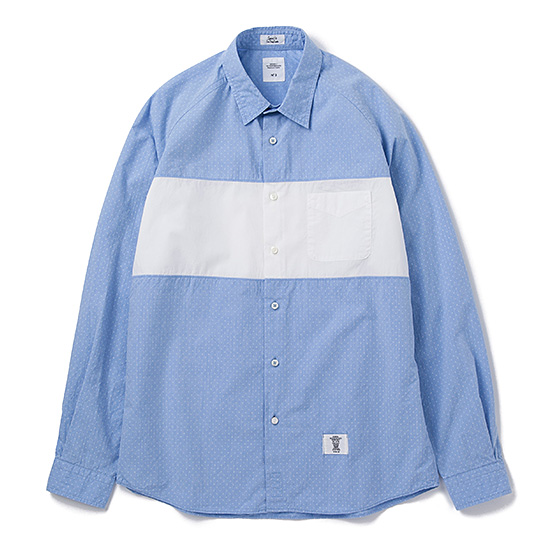 BEDWIN&THE HEARTBREAKERS L/S BROAD DOT PANEL SHIRT COLIN