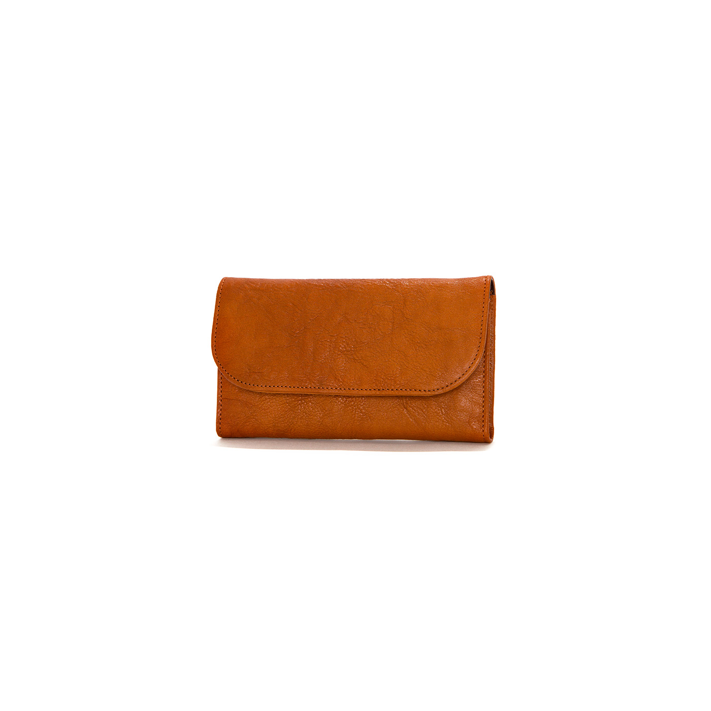 hobo CREASED LEATHER LONG WALLET