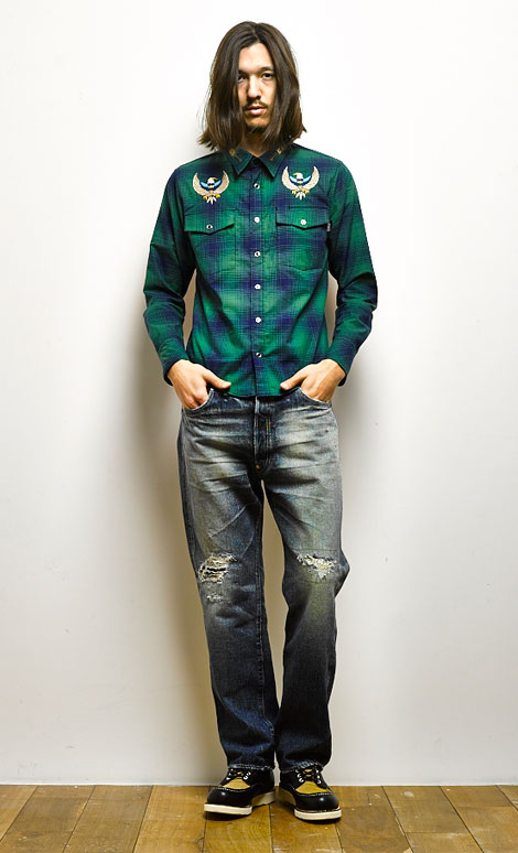 CHALLENGER L/S CHECK COUNTRY SHIRT