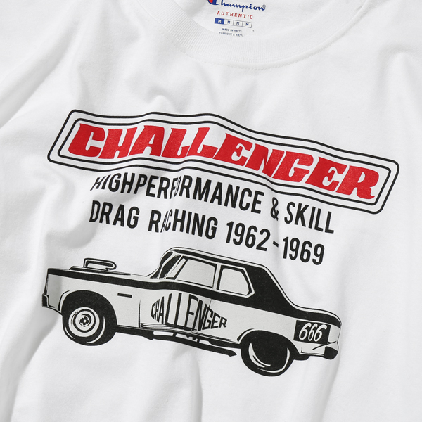 CHALLENGER CHAMPION CAR LOGO TEE
