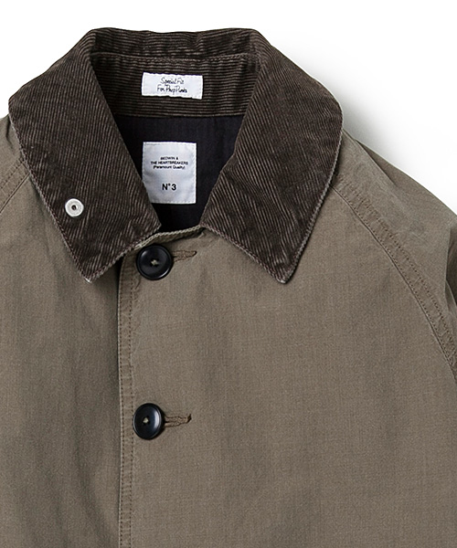 BEDWIN&THE HEARTBREAKERS WEATHER SOUTIEN COLLAR COAT SLOVAK