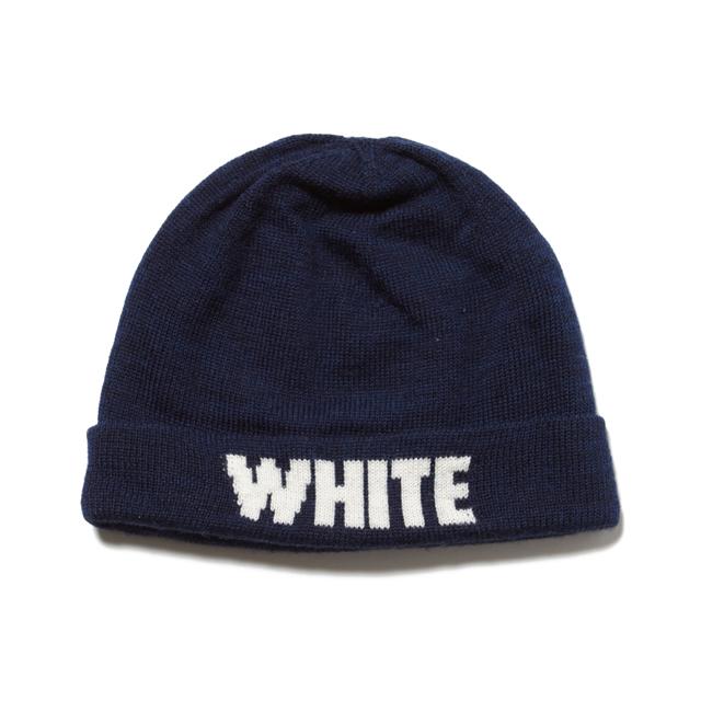 White Mountaineering WHITE LOGO KNIT CAP
