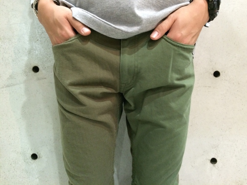 NONNATIVE FLAPH OLIVE PANTS1