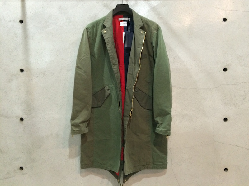 NONNATIVE FLAPH OLIVE COAT