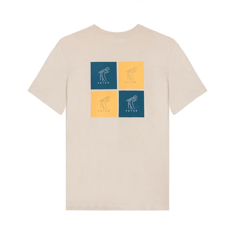 Cube Tee - Ecru-2