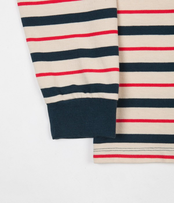 pop-trading-company-kris-striped-long-sleeve-t-shirt-dark-teal-off-white-2