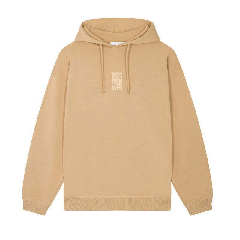 FUTUR_01_FLAT_G_FIT_HOODIE_SAND_1_FRONT