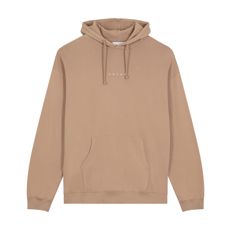 FUTUR_LOGO G FIT HOODIE_SAND_FRONT