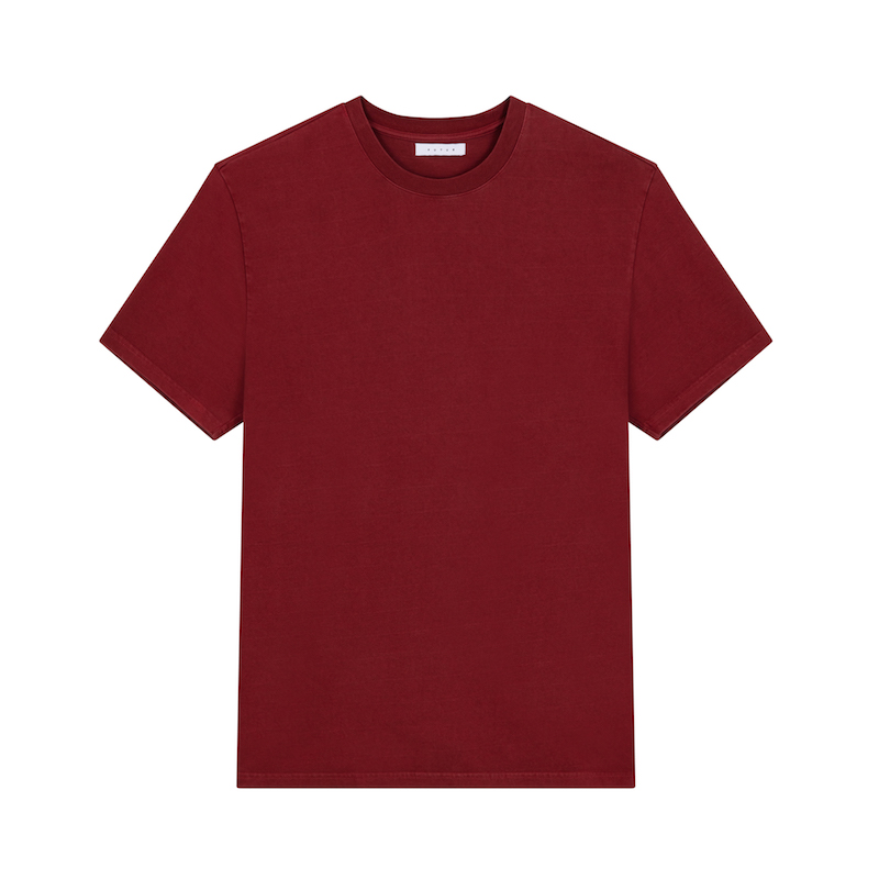 FUTUR_OUTLINE 01 CORE TEE_DARK RED_FRONT