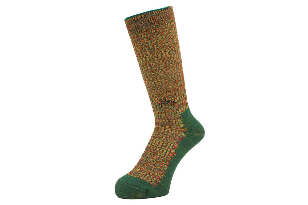 DOUBLE JACQUARD EMJAY SOCKS GREEN 1