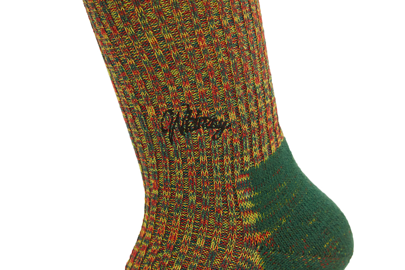 DOUBLE JACQUARD EMJAY SOCKS GREEN 2