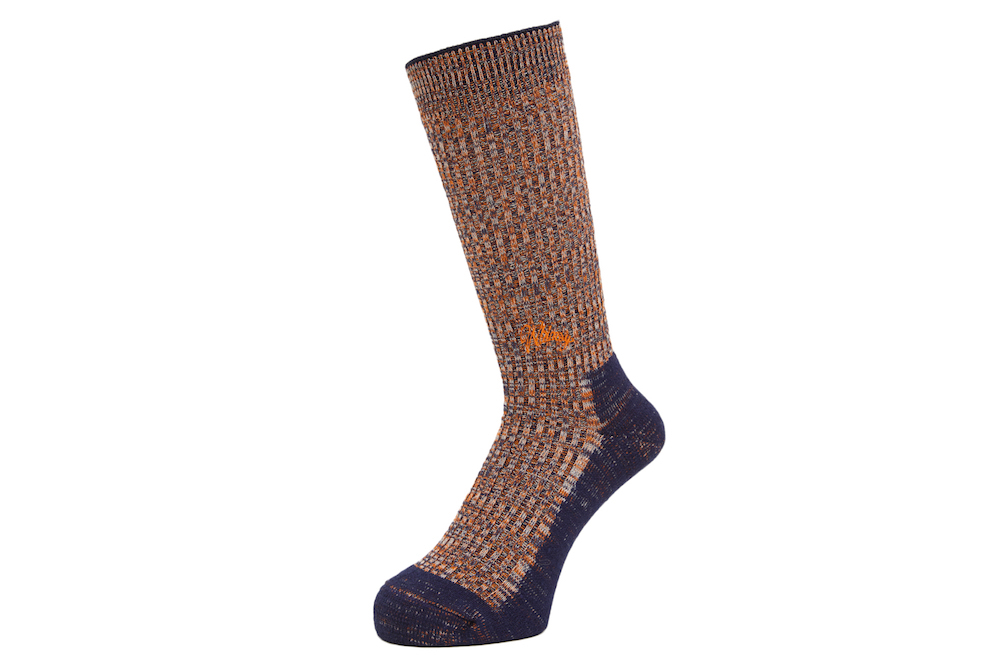 DOUBLE JACQUARD EMJAY SOCKS NAVY 1