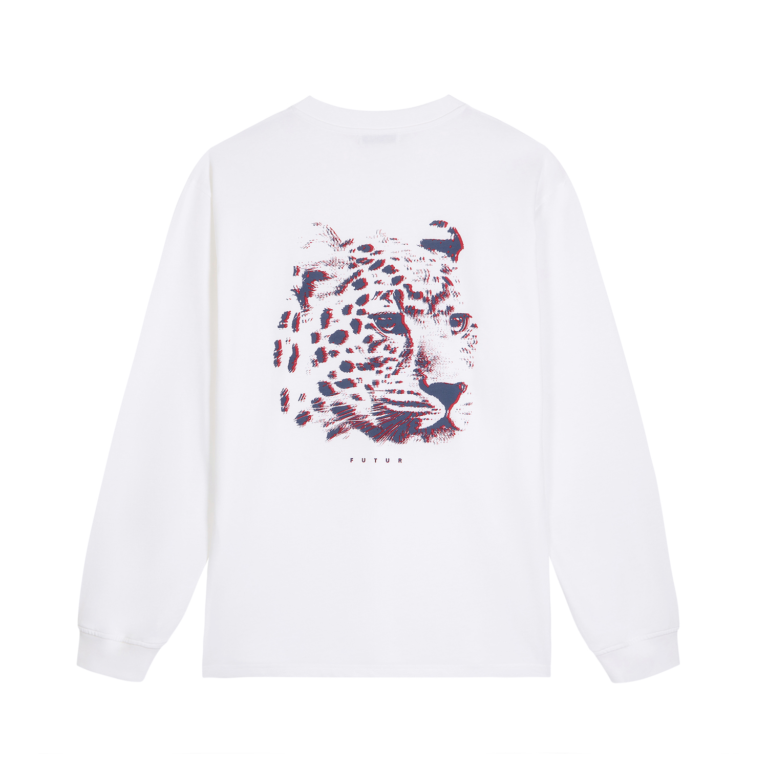 FUTUR_MW G FIT LEOPARD LS TEE_WHITE_BACK