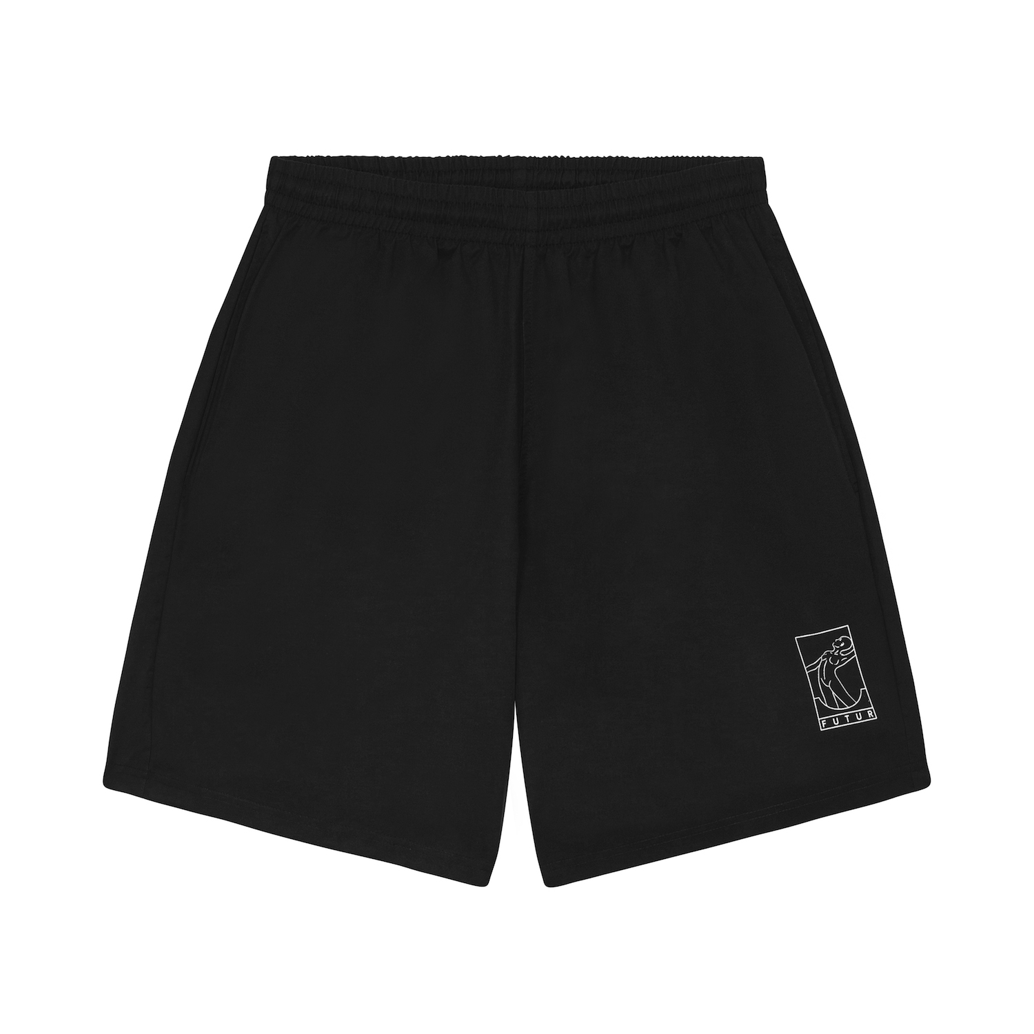 FUTUR_SPLASH SHORT_BLACK_FRONT